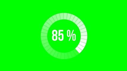 Chargement : 0-100% - fond vert