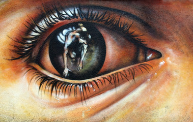 Graffiti - eye © whitec4t