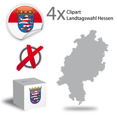 Landtagswahl Hessen Basic Clipart and icons