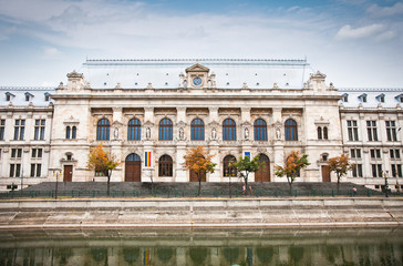 Justice Palace in old town in Bucharest, Romania