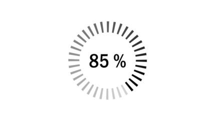 Chargement : 0-100% - noir