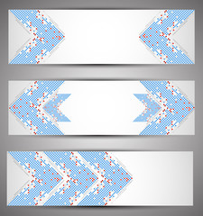 Horizontal web banners. Pixel art. Vector