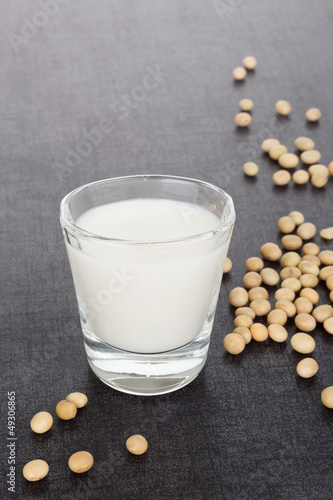 Soybeans and soy milk.