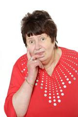 Ratlose Seniorin