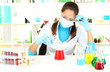 Young scientist in  laboratory.