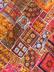 Inde - Patchwork en tissus