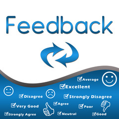 Feedback with keywords - Blue