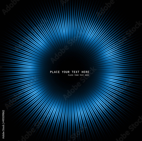 abstract background of blue luminous rays vector