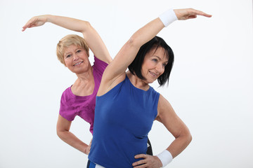 Older women working out