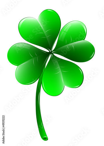 Four-leaf clover - vector illustration