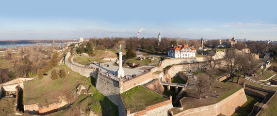 Belgrade fortress, Serbia, aerial view