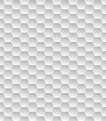 White hexagon seamless texture