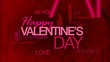 Happy Valentine's Day word tag cloud animation