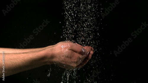 Hands being washed