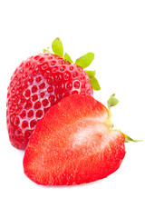 Strawberries on white background_III