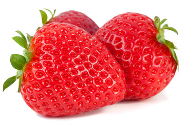 Strawberries on white background_IV