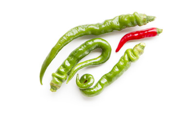Green pepper and chili.