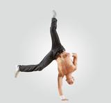 Fototapeta tancerz - mężczyzna - Zdrowie / Gimnastyka / Taniec