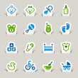 Paper Cut - Baby icons