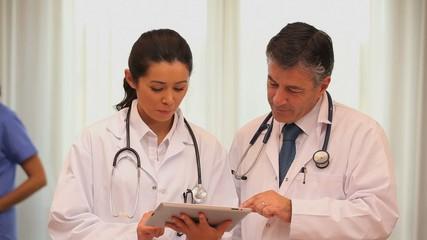 Medics talking about something