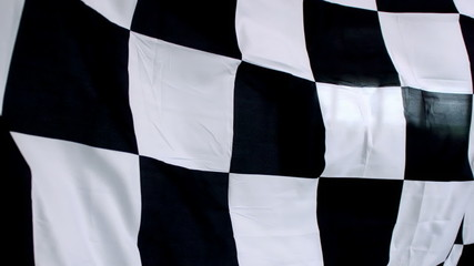 Checkered flag waving