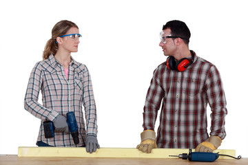 A couple of carpenter.