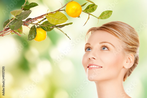 woman with lemon twig