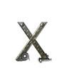 Alphabet Metal Shop X