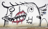 Fototapete übel - Entsetzen - Graffiti