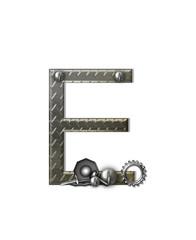 Alphabet Metal Shop E