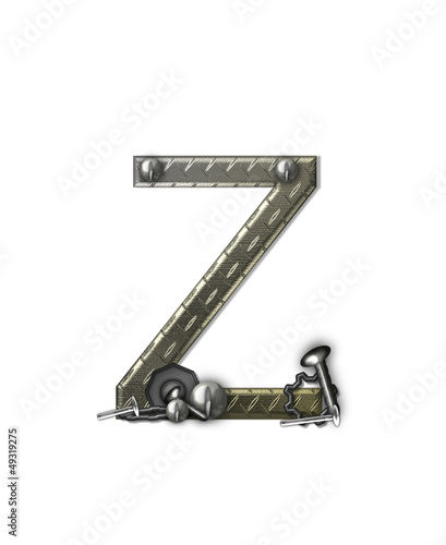 Alphabet Metal Shop Z