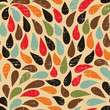 Seamless abstract retro drops pattern.