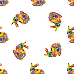 colorful origami Easter rabbit   pattern