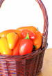 Basket of Colorful Peppers