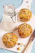 Banana muffins with walnuts and white chocolate