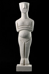Cycladic figurine, sample of the Cycladic civilization in Greece