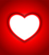 perfect red heart background