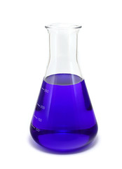 Blue Erlenmeyer