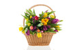 Basket tulips with handle