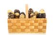 Basket chocolate eggs