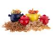 Wholemeal pasta assortment