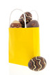Shopping bag chocolate eggs