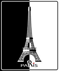 Eiffel Tower in Paris , Europe