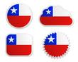 Fahne Chile Sticker