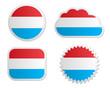 Fahne Luxemburg Sticker