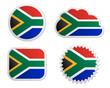 Fahne Südafrika Sticker