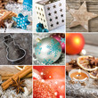 Christmas decoration collage