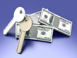 Schlüssel mit Dollarscheinen