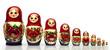 Nested doll - a dreny national Russian doll of handwork. - 49324271