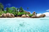 Fototapety Anse Source d'Argent beach, La Digue island, Seyshelles